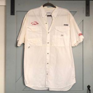 Columbia PFG Arkansas Razorback Hogs Shirt large